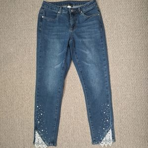 Venus Crochet and Studded Edge Jeans